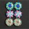 6 Image Glass Domes & 6x12mm Earring Trays