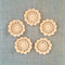 Pack of 5, peach motif, ornaments, scrapbooking, card making