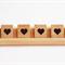 8 x Heart love symbol Scrabble Tiles For Weddings Craft scrap booking