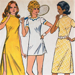 Seventies Ladies Stretch Dress Pattern in 3 lengths with matching shorts 3163