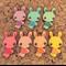 7x Wooden Bunny Rabbit Embellishments
