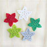 crochet mini stars | 5 pack | christmas | applique motif