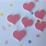 10pcs 16mm Heart Handmade Photo Wood Cut Cabochon
