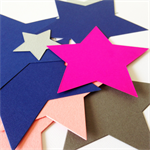 13 Die Cut Paper Stars 200gsm Cardstock - Mixed Bag