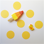 5cm or 3cm Yellow Paper Die Cut Circles for scrap book, craft and embellishment.