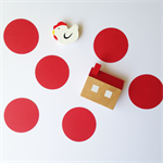 5cm or 3cm Red Paper Die Cut Circles for scrap book, craft and embellishments.