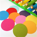50 Rainbow Paper Die Cut Circles for scrap book, craft and embellishments