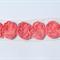 12 Melon shabby chiffon bows - for millinery & hairclips