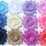 12 Colourway with lavender shabby chiffon rose flowers - mixed bag for craft.
