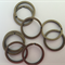 10 x 30mm Antique Bronze split keyrings