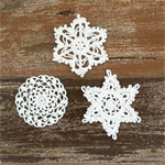 Pack of 3, large white crochet  snowflake motive