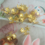 50pcs gold Filigree Bead Cap
