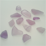 Lavender sea glass bulk 13 pieces