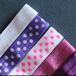 5 Soft Elastic Headbands