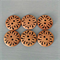 6 x large gorgeous robust floral patterned wood buttons ♥