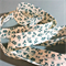 Beautiful vintage retro style bias, teal floral on off-white back, 6mtrs ♥