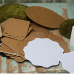 50 Assorted Brown Kraft and White Tags ~ Ready to Post