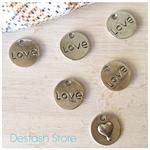 6pcs Silvertone LOVE Charms ❤️❤️❤️