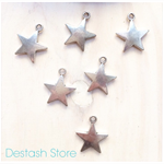 Silvertone 🌟⭐️🌟 STAR charms x 6 pieces