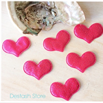 Hot Pink 💖 Glitter Heart Fabric appliqués embellishment