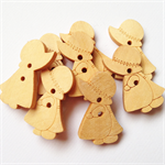 8 Holly Hobby Doll Pattern Wooden Buttons Unfinished