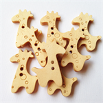 8 Giraffe Zoo Pattern Wooden Buttons Unfinished