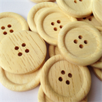 20 Wooden Buttons 25mm large perfect for sewing scrap booking craft