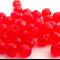 45 x Czech Fire Polish Round 4mm Beads - Red