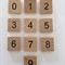 10 x Number scrabble tiles