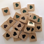 10 x Love heart scrabble tiles