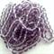160 x Czech Fire Polish Round 4mm Beads - purple