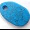 Large Turquoise Gemstone Pebble Shaped Bead Pendant