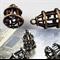 2 Silver or Antique Bronze 3D Bird Cage