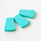 Trapezoid Silicone Beads  Turquoise x 3