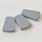 Trapezoid Silicone Beads Grey x 3