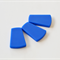 Trapezoid Silicone Teething Beads Blue x 3
