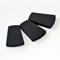 Trapezoid Silicone Beads  Black x 3