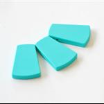 Trapezoid Silicone Beads  Turquoise x 3