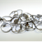 25 x Adjustable Silver Metal Ring Blank with 10mm Glueable Pad