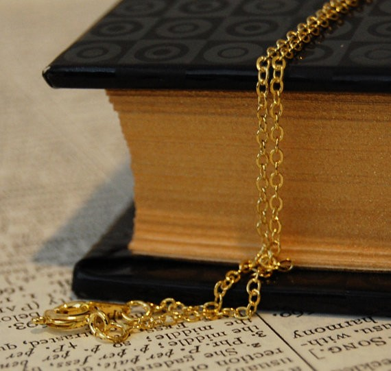 10 Shiny Tiny Golden Color Chain Necklace
