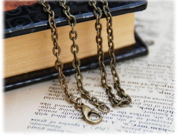 10 Necklaces , 24 inch/60cm Antique Bronze Brass Color Necklaces,great quality