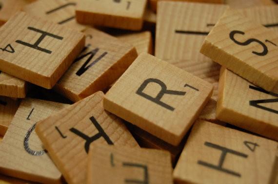 200 Wooden Scrabble Tiles in Bulk, 2 Complete Sets.