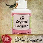 3D Crystal Lacquer  4oz (118ml) Glaze Adhesive,  Great for making glass pendants