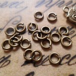 100pcs Vintage Style Bronze Color Jumprings 6mm in diameter, 1mm thick
