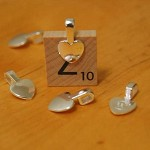 Wholesale - 100 High Quality Small Heart Shape Silver Color Glue On Bails, Great