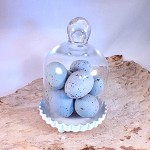 DESTASH - Decorative Robins Eggs Blue Faux Artificial Speckled 1 Dozen