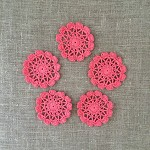 Pack of 5, coral motives, ornaments, scrapbooking, card making