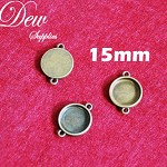 10pcs round connector tray for making bracelets, earrings, necklaces, 15mm inner