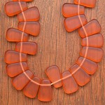 Candy Corn shaped resin beads Orange 1 x strand of 36 beads