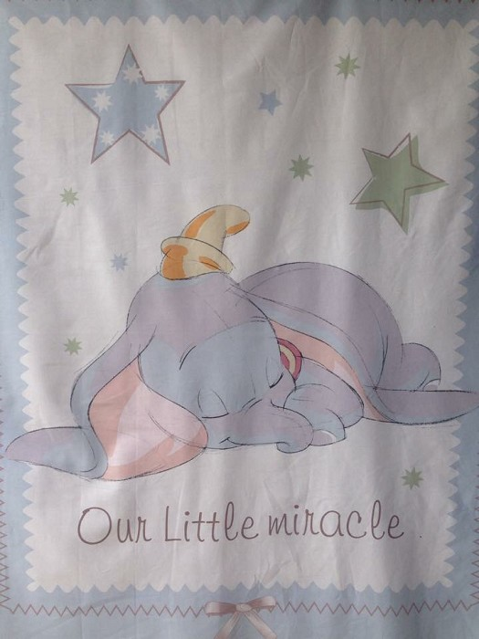 Disney Dumbo Our Little Miracle Cot Panel Quilting By